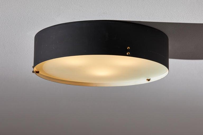 Italian Two Flush Mount Ceiling Lights by Bruno Gatta for Stilnovo For Sale