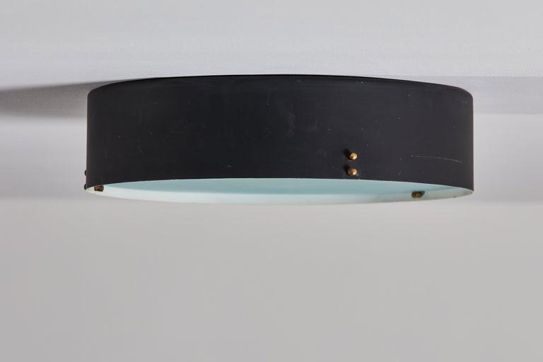 Mid-20th Century Two Flush Mount Ceiling Lights by Bruno Gatta for Stilnovo For Sale