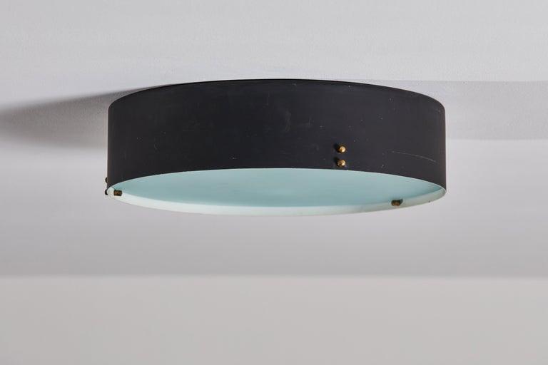 Metal Two Flush Mount Ceiling Lights by Bruno Gatta for Stilnovo For Sale