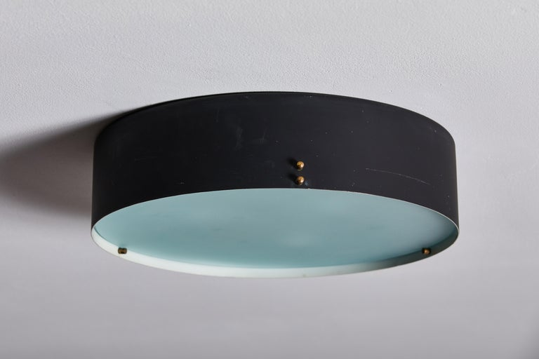 Two Flush Mount Ceiling Lights by Bruno Gatta for Stilnovo For Sale 1