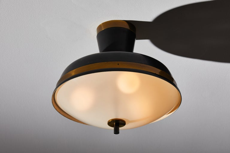 Italian Two Flush Mount Ceiling Lights by Oscar Torlasco for Lumi For Sale