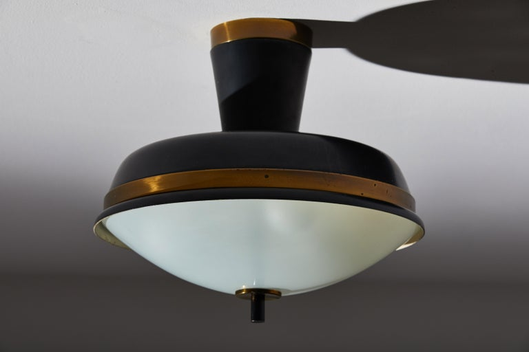 Two Flush Mount Ceiling Lights by Oscar Torlasco for Lumi In Good Condition For Sale In Los Angeles, CA