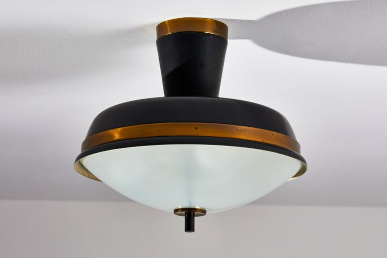 Mid-20th Century Two Flush Mount Ceiling Lights by Oscar Torlasco for Lumi For Sale