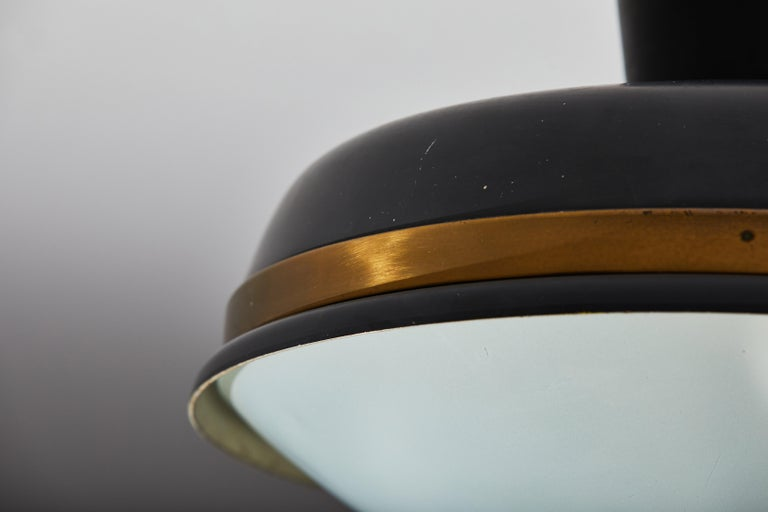 Two Flush Mount Ceiling Lights by Oscar Torlasco for Lumi For Sale 1