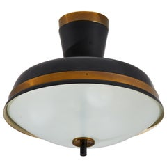 Two Flush Mount Ceiling Lights by Oscar Torlasco for Lumi