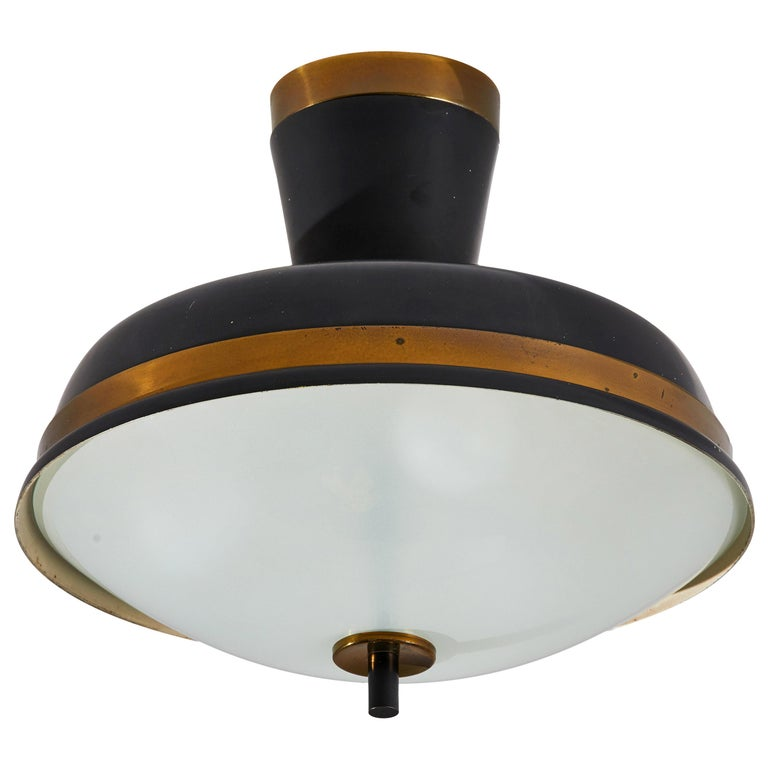 Two Flush Mount Ceiling Lights by Oscar Torlasco for Lumi For Sale