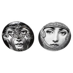 Two Fornasetti Tema E Variazioni Porcelain Plates, Numbers 9 + 95
