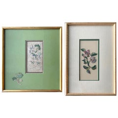 Two Framed Chinese Antique Textile Fragments Qing Dynasty Provenance
