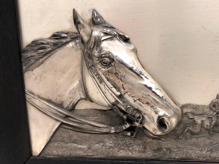 Two Framed Metal Horse Relief Pictures by Georg Bommer, Germany, 1920s For Sale 7