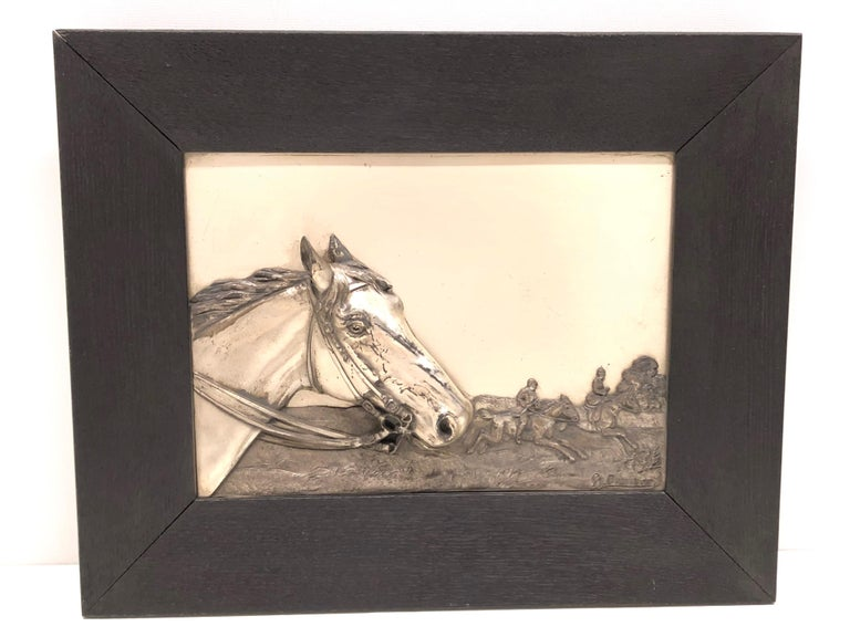 Two Framed Metal Horse Relief Pictures by Georg Bommer, Germany, 1920s For Sale 2