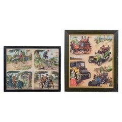 Two Framed Vintage Transport Prints, 20th Century