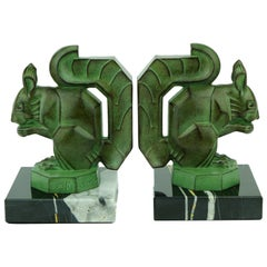 Two French Art Deco Squirrels by Max Le Verrier