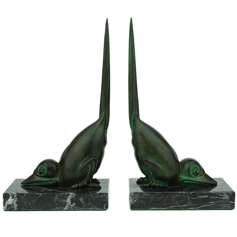 Two French Art Deco Stylised Birds by Marcel Bouraine