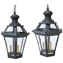 Two French Hexagonal Lanterns