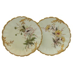 Two French Limoges Porcelain Plates by Martial Redon