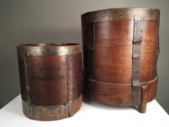 Two French Wood Measure Buckets, 19th Century