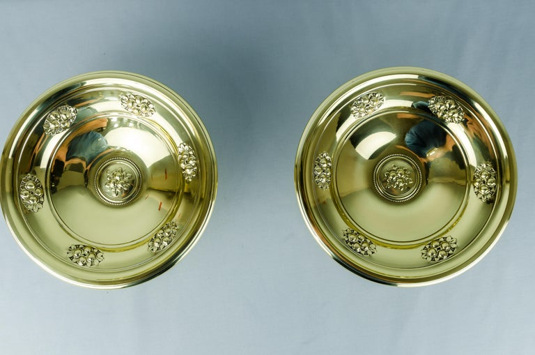 Two fruit bowls, circa 1908s Polished and stove enameled.