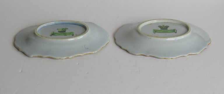 Two Georgian Mason's Ironstone Oval Dishes Table & Flower Pot Pattern, Ca 1818 For Sale 7
