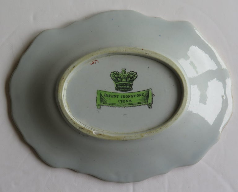 Two Georgian Mason's Ironstone Oval Dishes Table & Flower Pot Pattern, Ca 1818 For Sale 9