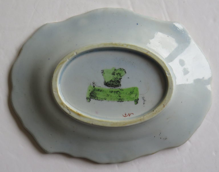 Two Georgian Mason's Ironstone Oval Dishes Table & Flower Pot Pattern, Ca 1818 For Sale 10
