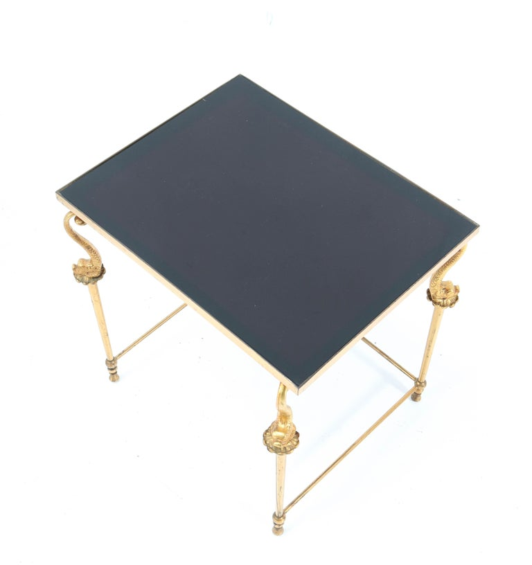 Two Gilt Metal Hollywood Regency Side Tables, 1970s For Sale 2