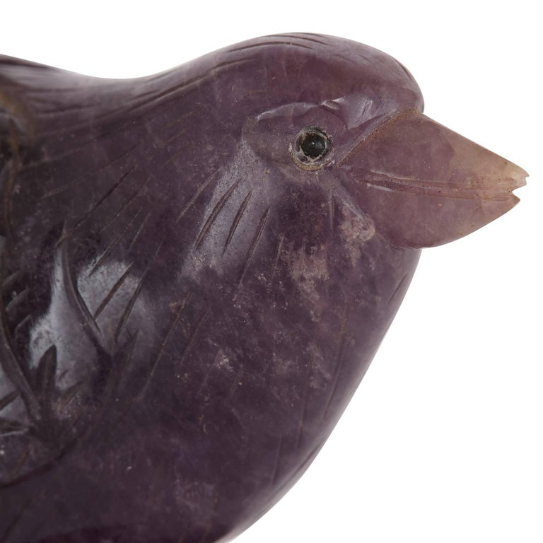 Two Gold and Semi-Precious Stone Bird Models In Excellent Condition For Sale In London, GB