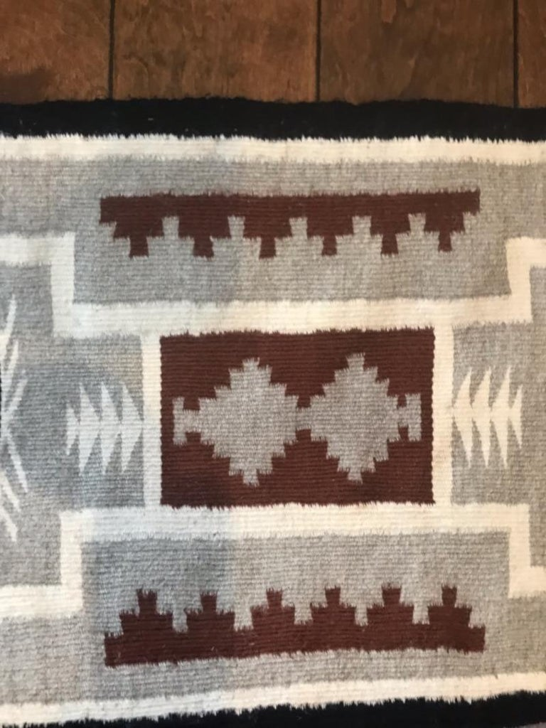 Adirondack Two Grey Hills Navajo Rug For Sale