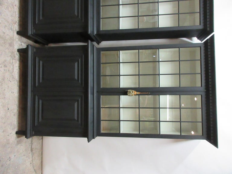 Swedish Two Gustavian Style Glass Top Hutches For Sale