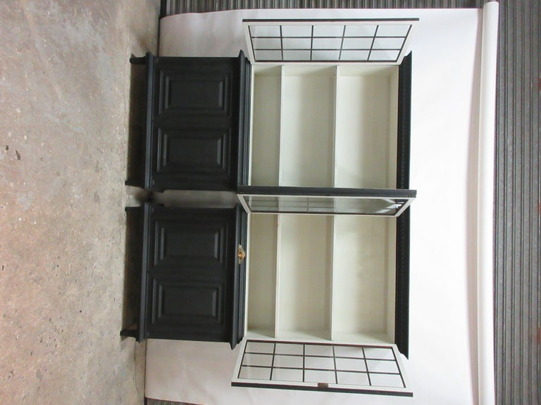 Birch Two Gustavian Style Glass Top Hutches For Sale