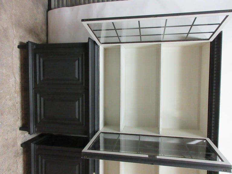 Two Gustavian Style Glass Top Hutches For Sale 1