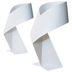 Two Habitat Ribbon Table Lamps