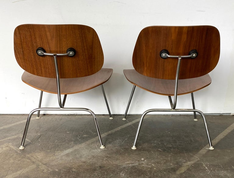 Two Herman Miller Eames LCM Chairs in Walnut 2