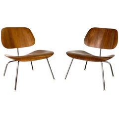 Two Herman Miller Eames LCM Chairs in Walnut
