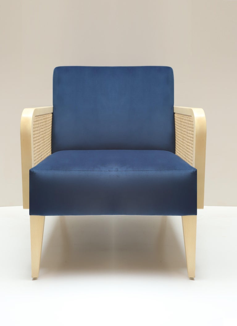 Two Hermes Rattan Armchairs, French Modern Armchair in ...