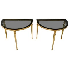 Two Ilse Germany Demilune Tables, 1960s