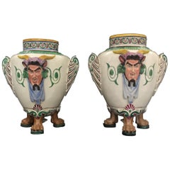 Two Italian Ceramic Neoclassic Empire Vases