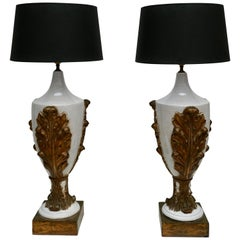 Two Italian Ceramic Table Lamps