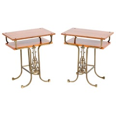 Two Italian Midcentury Nightstands or Bedside Tables, 1970s