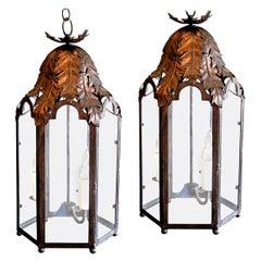 Two Italian Style Iron Lanterns