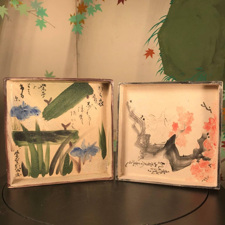 Two Japanese Antique Hand-Painted