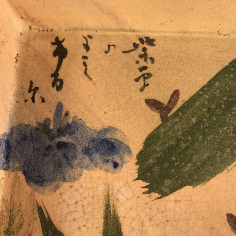 20th Century Two Japanese Antique Hand-Painted