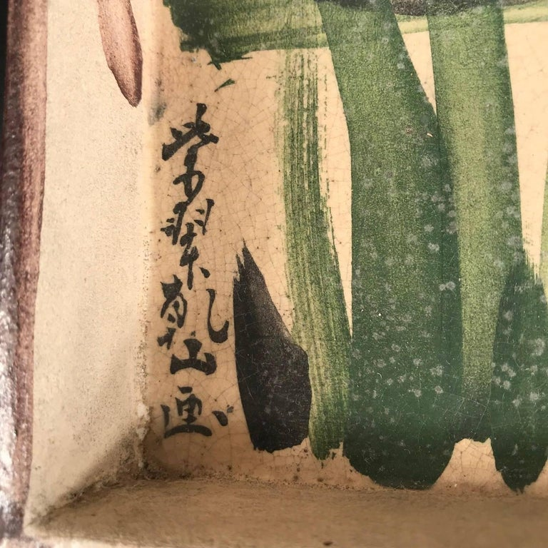 Ceramic Two Japanese Antique Hand-Painted