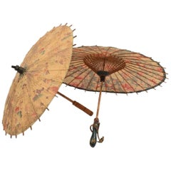 Two Japanese Umbrellas/Parasols, circa 1930s