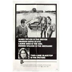 """Two-Lane Blacktop"" 1971 U.S. One Sheet Film Poster"