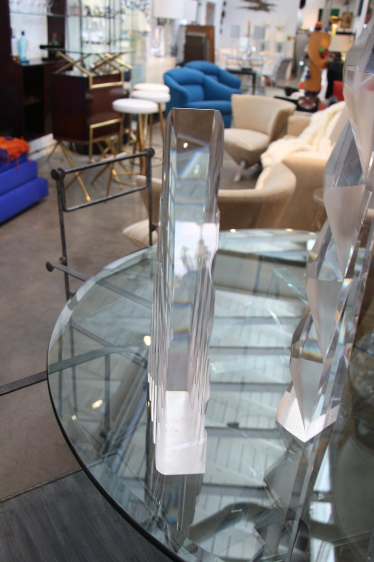 Two Large Lucite Sculptures In Good Condition For Sale In Palm Springs, CA
