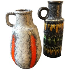 Two Lava Keramik German Jugs by Scheurich, circa 1970