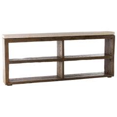 Two Level Open Shelf Console