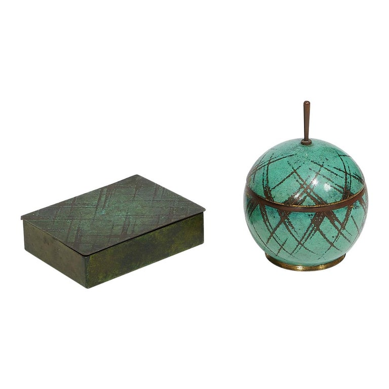 Two Lidded Boxes by Paul Haustein For Sale
