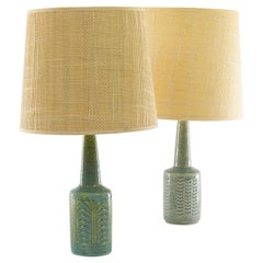Two Light Blue Table Lamps DL/21 by Annelise & Per Linnemann-Schmidt for Palshus