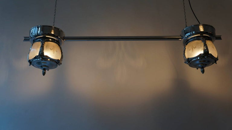 Two-Light Rare Art Deco Flush Mount In Good Condition For Sale In Antwerp, BE
